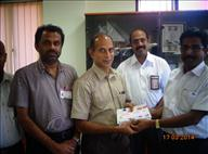 Mega Promotion Prize handed over to Mr. Joseph M.L as authorized by Winner Mr. Santhosh George.